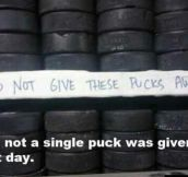 Not one puck