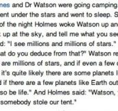 SHERLOCK HOLMES AND DR. WATSON GO CAMPING