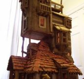 The Weasley's Gingerbread house. Both ironic and tasty