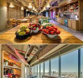 Inside one of Google's office buildings…