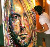 A perfect painting of Kurt Cobain…
