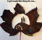 The nightmare before Christmas in a leaf…