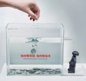 Clever charity box…
