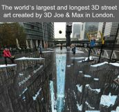 World's largest and longest 3D street art…