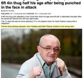 You messed with the wrong old vet…