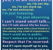 Introvert people…