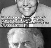 Smart people, dumb predictions…
