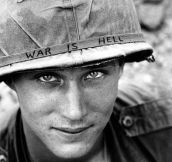 Ridiculously photogenic soldier in Vietnam…