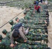 Soldiers doing the right thing…
