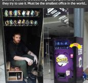 Probably the smallest office in the world…