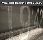 Water clock, light and water combination…