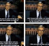 Wise words from Mr. Rogers…
