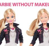 Barbie doll without makeup…