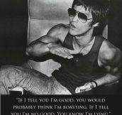 Bruce Lee rocks…