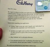 Good guy Cadbury…