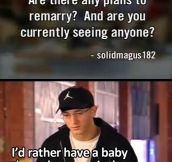 Eminem on marriage…
