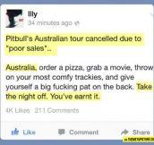 Well done Australia…