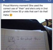 Proud mommy moment…