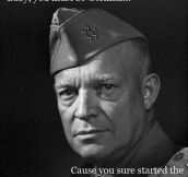 Eisenhower pick up line…