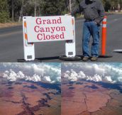 Grand Canyon closed…