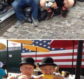Just Gandalf and Picard having some fun in NYC…