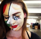 Picasso Halloween makeup…