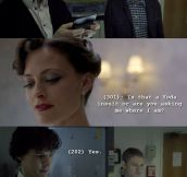 Sherlock's clever way with words…