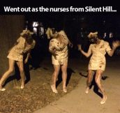 Nurses from Silent Hill…