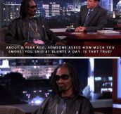 Snoop really doesn't care…