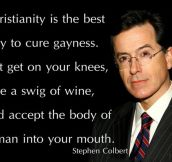 Stephen Colbert on Christianity…