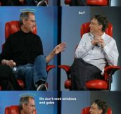 Steve Jobs explains Heaven to Bill Gates…