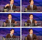 Glenn from The Walking Dead on dating…