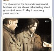 Misha Collins sumps up Supernatural…