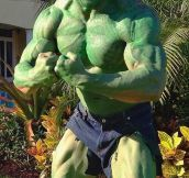 The Rock's Halloween costume from last year…