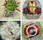 Avengers tattoo ideas…