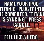 Such a heroic thing to do…