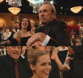 Tommy Lee Jones reaction at the Golden Globes…