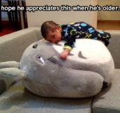 Every kid needs a giant Totoro stuffed animal…