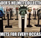 Vader's helmet collection…