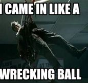 Wrecking zombie ball…