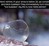 Ice bubbles…