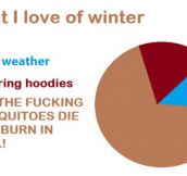 What I love of winter…