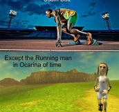 The fastest man in existence…
