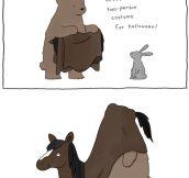 Two-person costume…