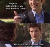 Black credit card…