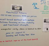 Amazing whiteboard handwriting…