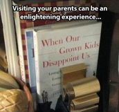 Visiting your parents…