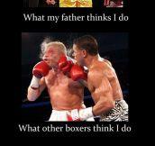 I'm a boxer…