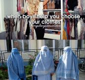 When boys help you choose your clothes…
