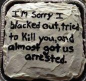 Please accept my apology…